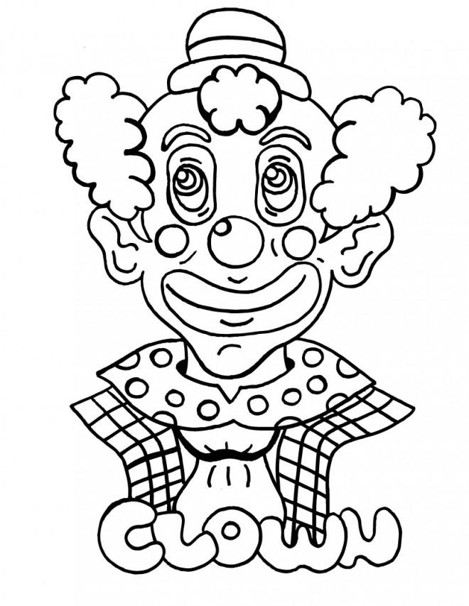 Coloriage et dessins gratuits Clown avec maquillage spectaculaire à imprimer