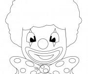 Coloriage Clown porte une perruque