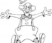 Coloriage et dessins gratuit Clown saute dans les airs à imprimer
