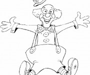 Coloriage dessin  Clowns 12