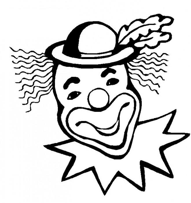 Coloriage et dessins gratuits Le clown aux cheveux longs à imprimer