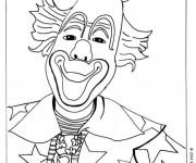 Coloriage Le clown avec un petit chapeau
