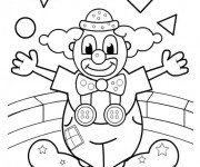 Coloriage Le clown fait son spectacle