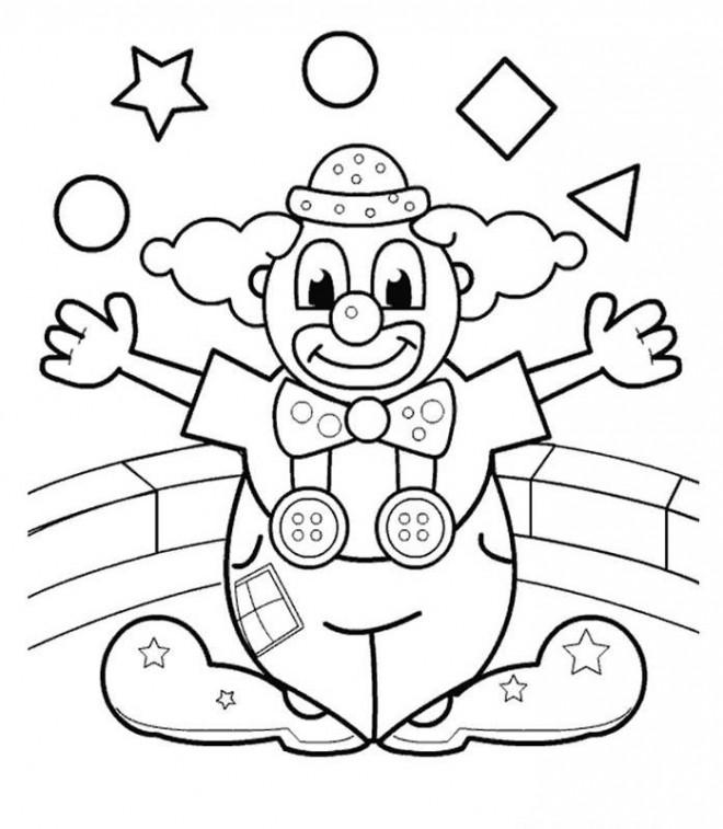 Coloriage et dessins gratuits Le clown fait son spectacle à imprimer