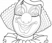 Coloriage Maquillage de clown de cirque