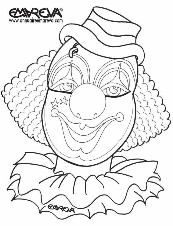 Coloriage Danseuse Cirque.Coloriage Maquillage De Clown De Cirque Dessin Gratuit A Imprimer