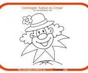 Coloriage Un clown au chapeau à fleur