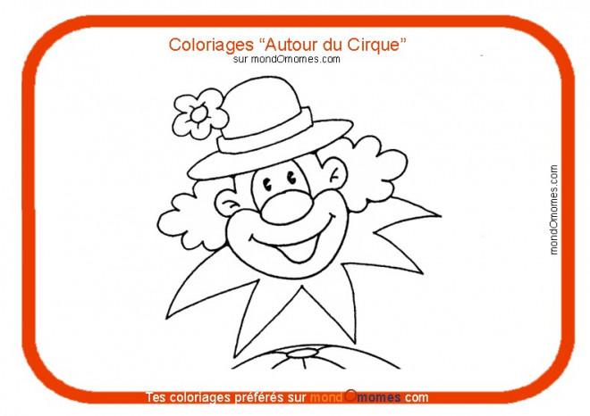 Coloriage et dessins gratuits Un clown au chapeau à fleur à imprimer