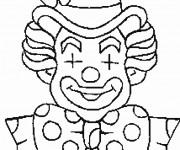 Coloriage Un clown avec les yeux fermés