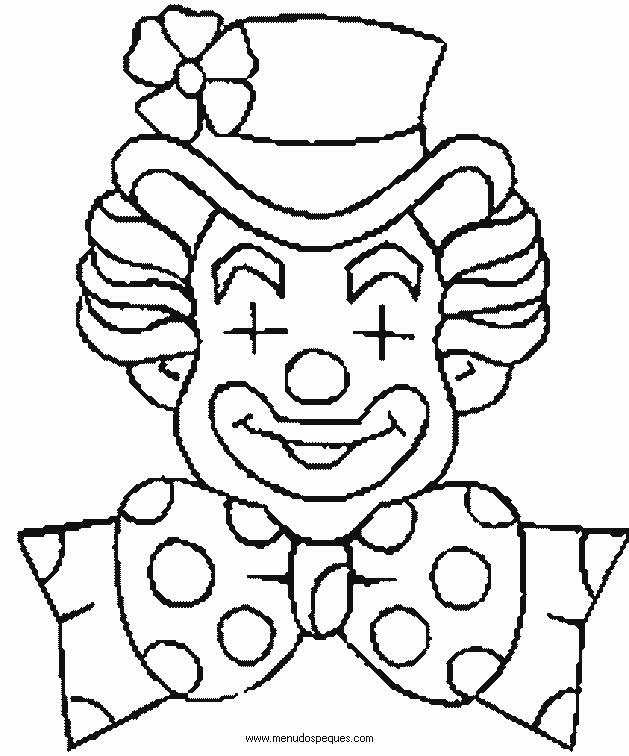 Coloriage et dessins gratuits Un clown avec les yeux fermés à imprimer