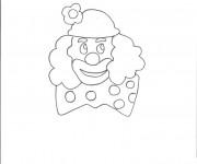Coloriage Un clown avec  un gros noeud