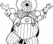 Coloriage Un clown fait son spectacle