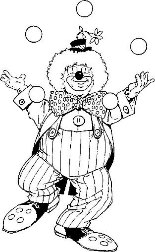 coloriage visage de clown sans yeux et bouche dessin
