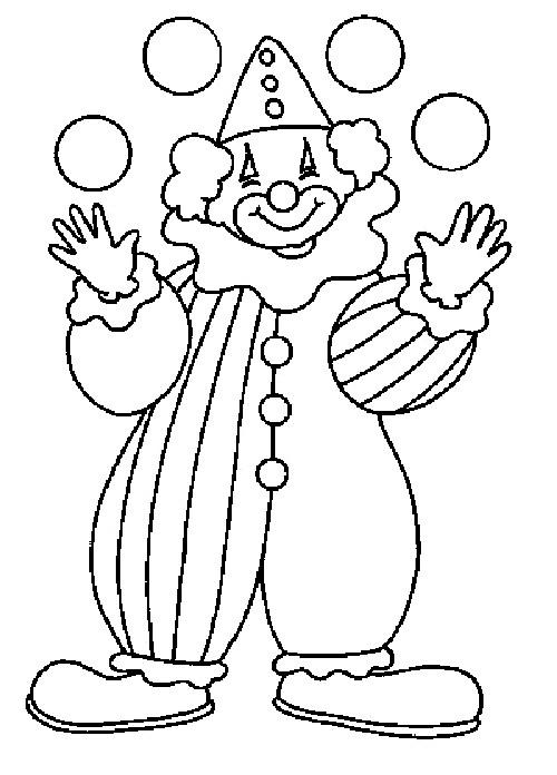 Coloriage et dessins gratuits Un clown joue avec des boules à imprimer