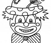 Coloriage Un clown porte une fleur sur son chapeau
