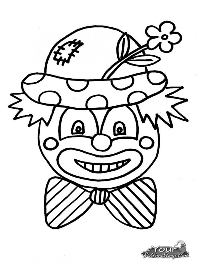 Coloriage et dessins gratuits Un clown porte une fleur sur son chapeau à imprimer