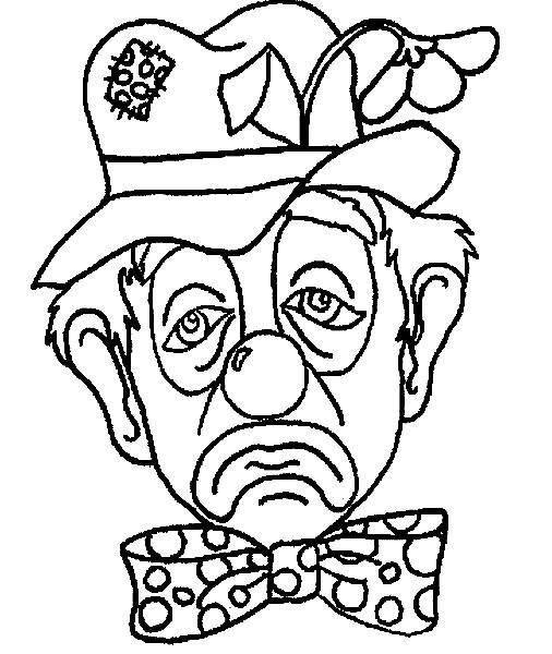 Coloriage et dessins gratuits Un clown triste à imprimer