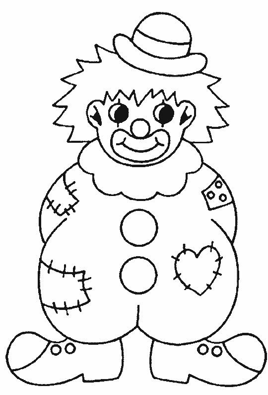 Coloriage et dessins gratuits Un gros clown à imprimer