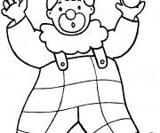 Coloriage et dessins gratuit Un gros clown avec des boules dans ses mains à imprimer