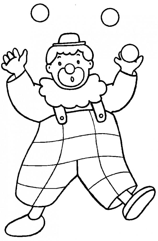 Coloriage un gros clown avec des boules dans ses mains for Disegno pagliaccio da colorare