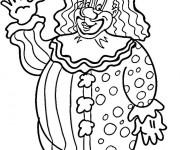 Coloriage Un gros clown te salue