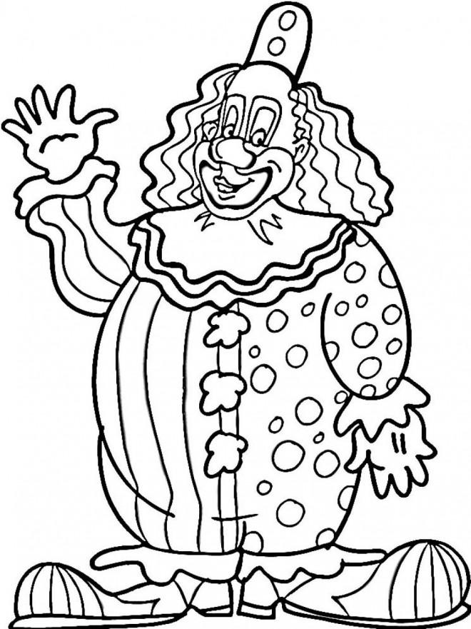 Coloriage et dessins gratuits Un gros clown te salue à imprimer