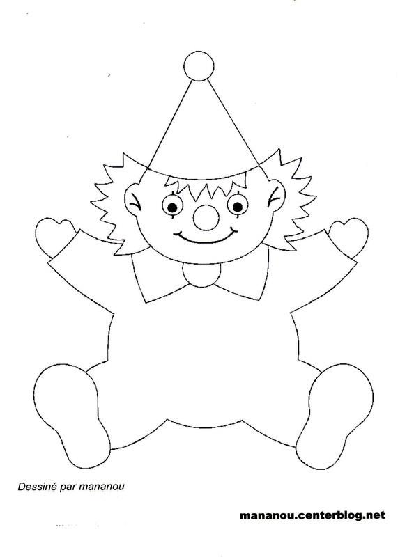 Coloriage un petit clown dessin gratuit imprimer - Photo de clown a imprimer ...