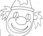 Coloriage et dessins gratuit Un visage de clown souriant à imprimer