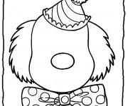 Coloriage Visage de clown sans yeux et bouche