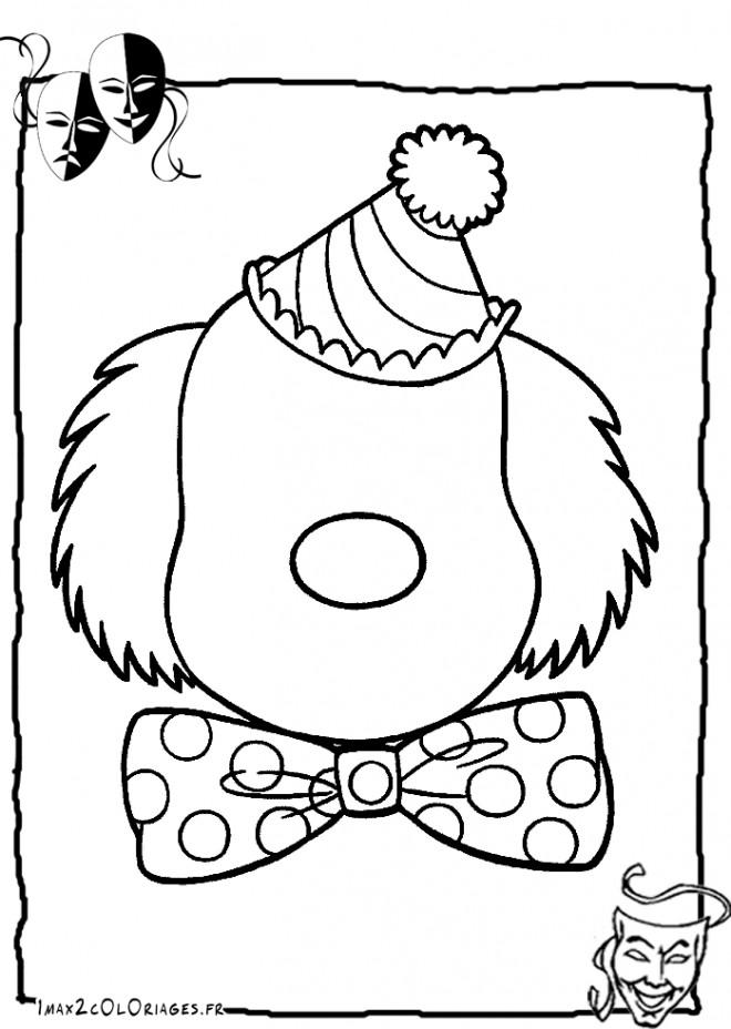 Coloriage visage de clown sans yeux et bouche dessin - Photo de clown a imprimer ...