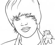 Coloriage et dessins gratuit Cheveux de Justin Bieber à imprimer