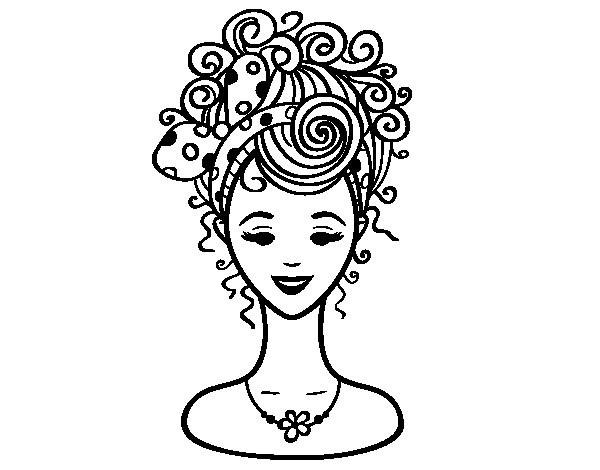 Coloriage coiffure de mariage dessin gratuit imprimer - Dessin de coupe de cheveux ...