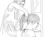 Coloriage et dessins gratuit Coiffure femme à imprimer