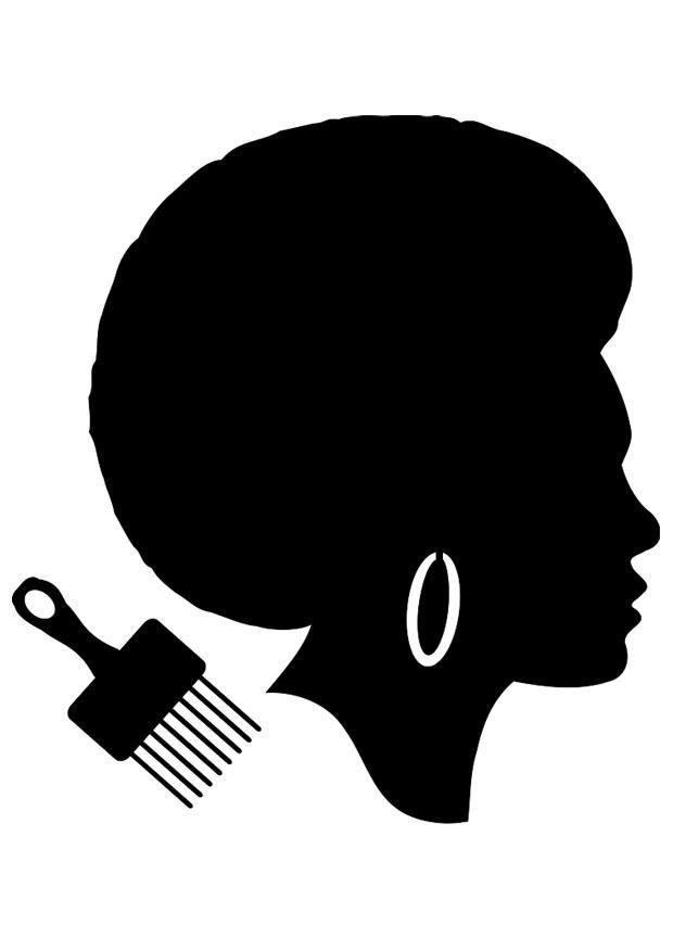 Coloriage Coiffure Pour Femme Noir Et Blanc Dessin Gratuit à