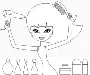 Coloriage et dessins gratuit Coiffure pour fille à imprimer
