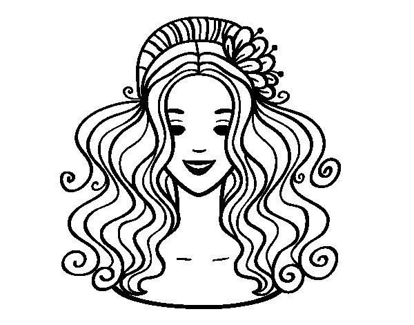 Coloriage Coupe De Cheveux Femme Facile Dessin Gratuit A Imprimer