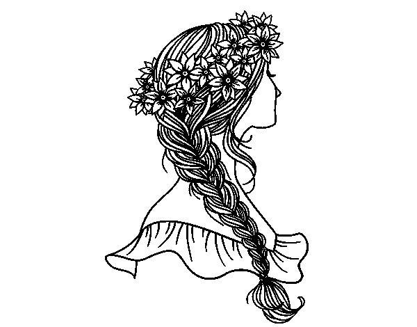 Coloriage et dessins gratuits coupe de cheveux pour femme à imprimer