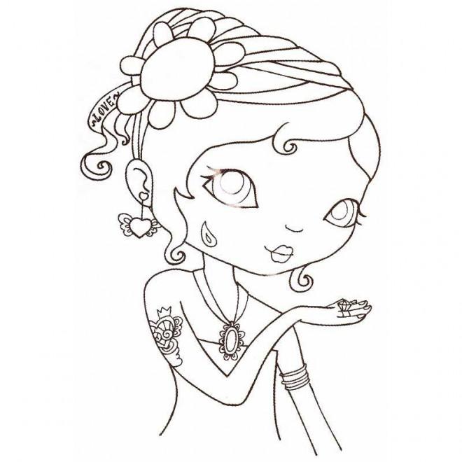 Coloriage coupe de cheveux pour fille dessin gratuit - Dessin en coupe ...