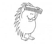 Coloriage et dessins gratuit Humoristique coiffure à imprimer