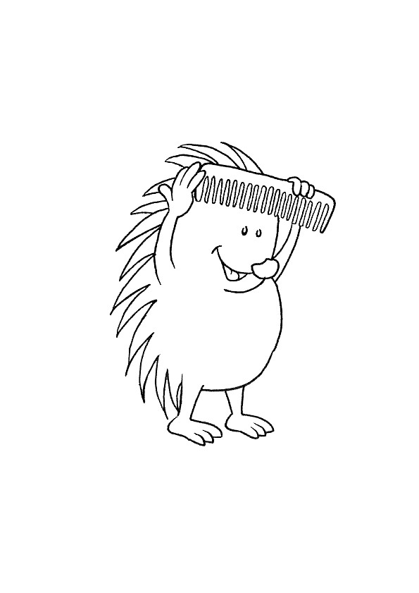 Coloriage et dessins gratuits Humoristique coiffure à imprimer