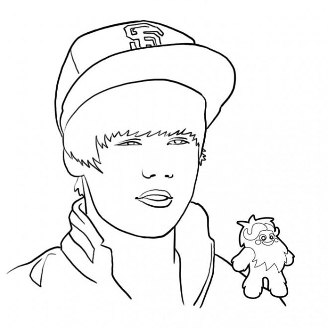Coloriage et dessins gratuits Justin Bieber à imprimer