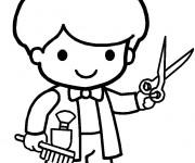 Coloriage et dessins gratuit Petit Coiffeur à imprimer