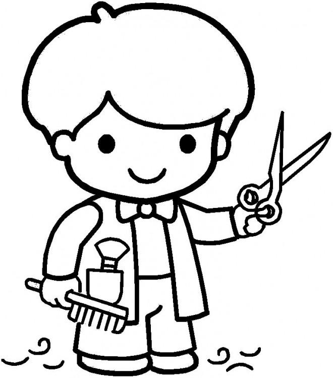 Coloriage et dessins gratuits Petit Coiffeur à imprimer