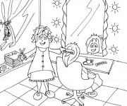 Coloriage et dessins gratuit Salon de coiffure femme à imprimer