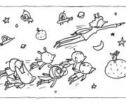 Coloriage Cosmonaute