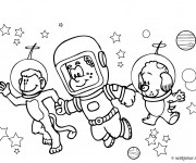 Coloriage Animaux Astronautes