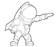 Coloriage dessin  Astronaute 24