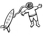 Coloriage dessin  Astronaute 34