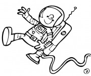Coloriage Astronaute bande dessinée