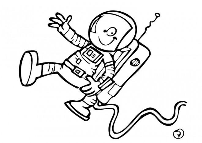 Coloriage et dessins gratuits Astronaute bande dessinée à imprimer